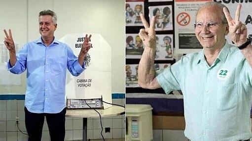 Candidatos que disputam o segundo turno - Montagem Estadão
