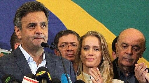 Aécio Neves faz pronunciamento após resultado das eleições - Marcos de Paula/Estadão - 26.10.2014