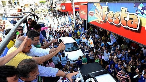 Aécio Neves faz campanha no interior da Bahia - Divulgação