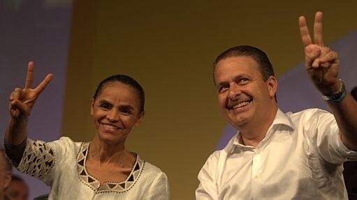Eduardo Campos com a candidata a vice Marina Silva - Ed Ferreira/Estadão