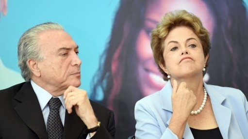 Michel Temer e Dilma Rousseff - AFP