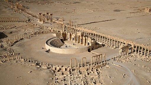 EI domina Palmyra - CHRISTOPHE CHARON / AFP