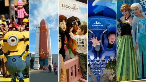 Universal, Kennedy Space Center, Legoland, Sea World e Busch Gardens e Disney - Viagem/Estadão