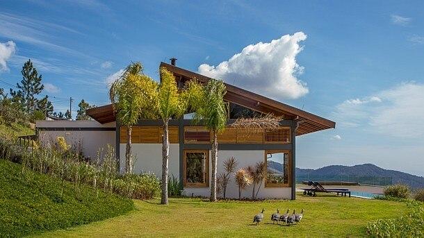 Andre Nazareth/Divulgação - Casa na região serrana do Rio projetada pelo arquiteto Sergio Conde Caldas