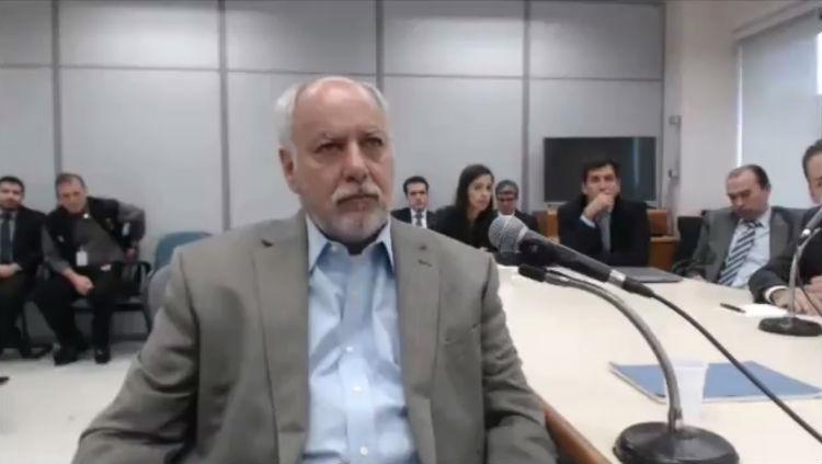Renato Duque, ex-diretor da Petrobrás, durante depoimento a Moro - Foto: Reprodução