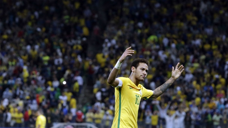 Neymar comemora segundo gol contra os paraguaios - Werther Santana/Estadão