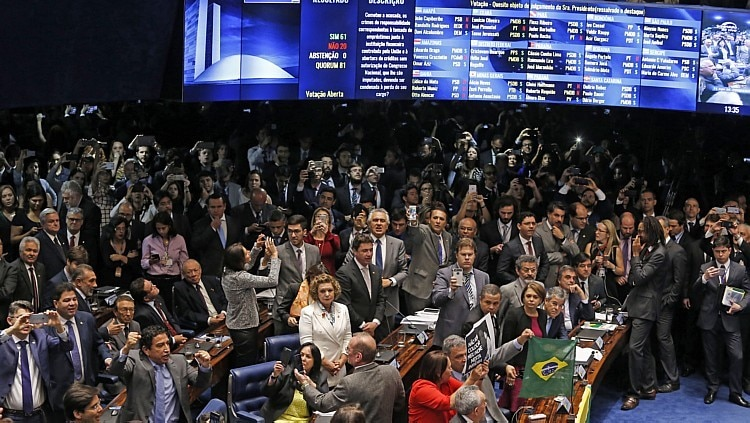 Plenário do Senado após a votação da cassação de Dilma - Dida Sampaio/Estadão