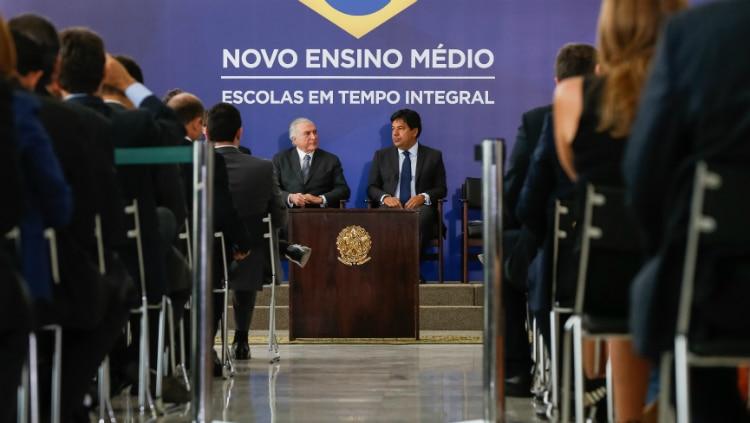 Temer em cerimônia de apresentação da reforma do currículo do ensino médio - Marcos Corrêa/PR