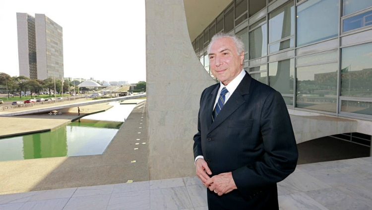 Presidente Michel Temer na rampa do Palácio do Planalto Foto: DIDA SAMPAIO/ESTADÃO