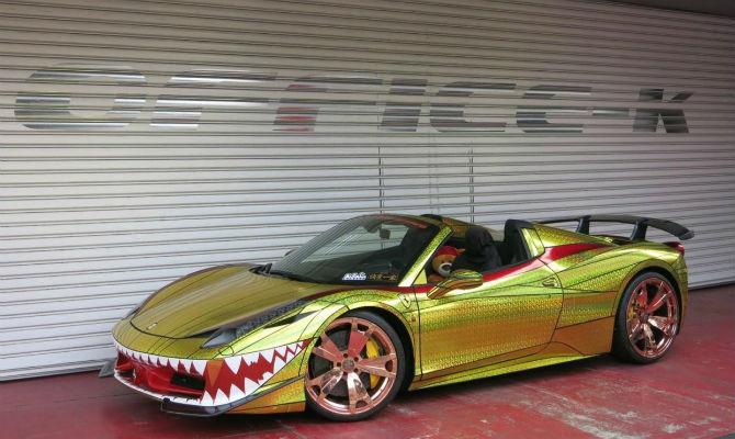 Aparador Line Branco Laqueado ~ Empresa transforma Ferrari em'tubar u00e3o' carros Jornal do Carro