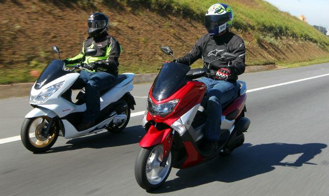 yamaha nmax 160 enfrenta o honda pcx 150 em duelo de scooters motos comparativos jornal do. Black Bedroom Furniture Sets. Home Design Ideas