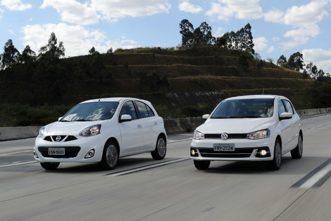 VW Gol 1.6 I-Motion encara Nissan March 1.6 CVT Gol-highline-i-motion-nissan-march-sl-cvt-1
