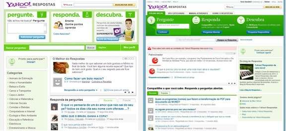 Yahoo respostas repaginado link estado antiga e nova homepages stopboris Gallery