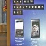 """RUN01 BANGKOK (TAILANDIA) 12/08/2013.- Fotografía fechada el 9 de mayo de 2013 que muestra a una ciudadana tailandesa junto a un cartel publicitario del nuevo modelo de móvil BlackBerry 10, en Bangkok, Tailandia. La empresa canadiense BlackBerry anunció en un comunicado emitido hoy, lunes 12 de agosto de 2013, que explora """"alternativas estratégicas"""" que incluyen asociaciones o incluso la venta de la firma a fin de acelerar la promoción de su BlackBerry 10. EFE/Rungroj Yongrit"""