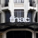 The logo of the retail chain Fnac is seen at the entrance of a store in Paris