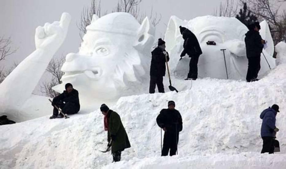 Esculturas de gelo em Harbin, na China
