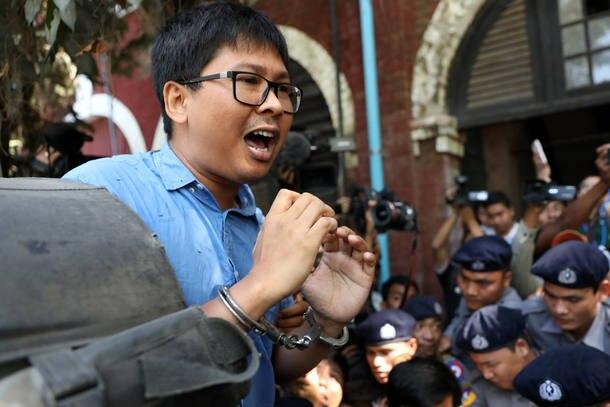 Resultado de imagem para Repórteres presos em Mianmar vão a tribunal