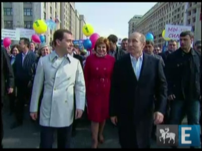 Putin participa de marcha do dia 1º de maio