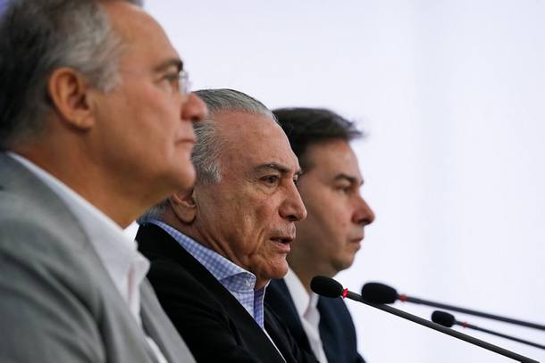 Coletiva de imprensa no Palácio do Planalto