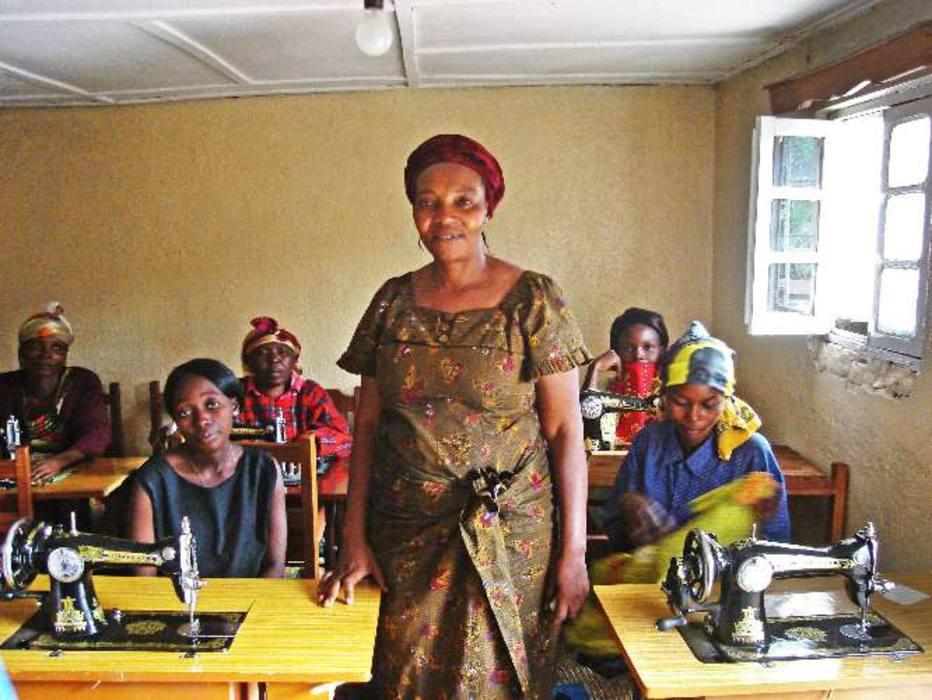 Wilhelmine Ntakebuka, diretora da ONG Vico, que abriga mulheres vítimas de violência sexual em B