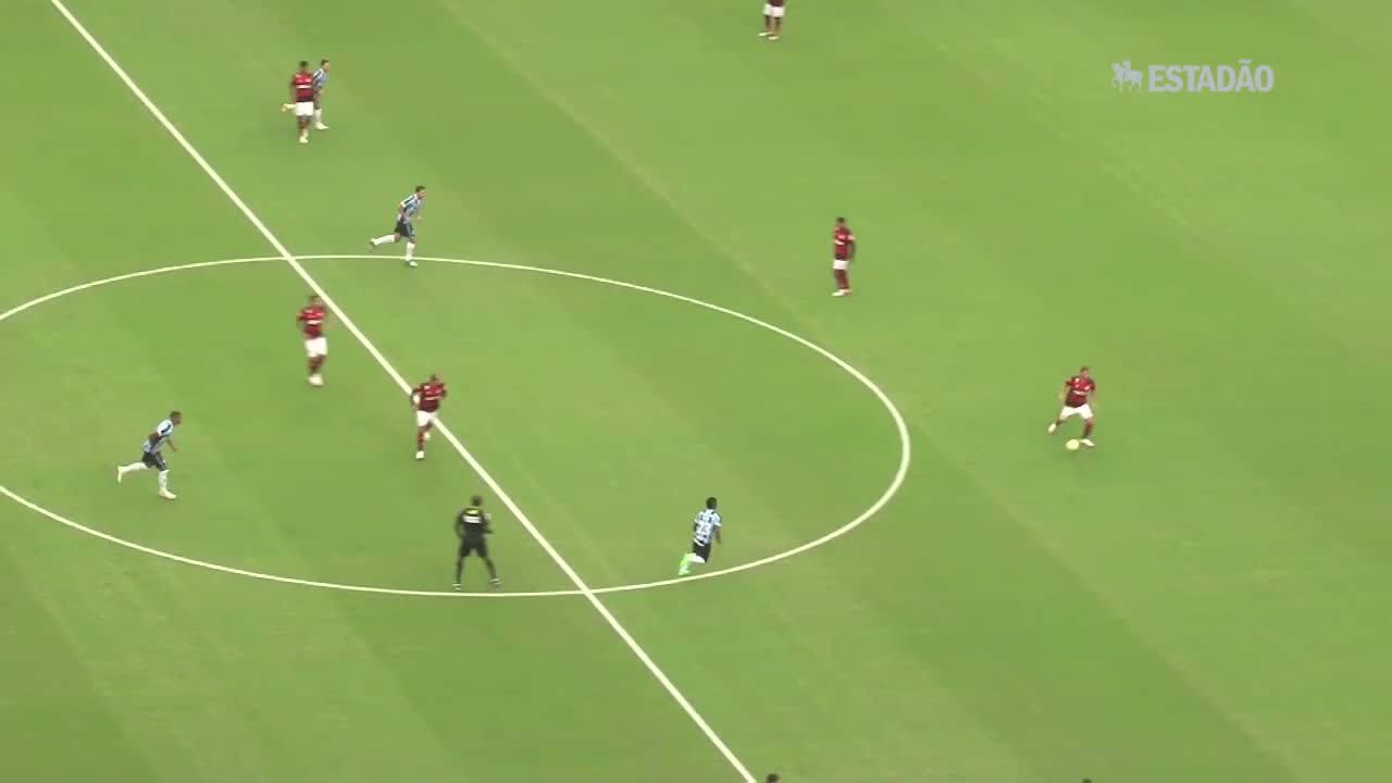 Grêmio vence o Flamengo por 1 a 0