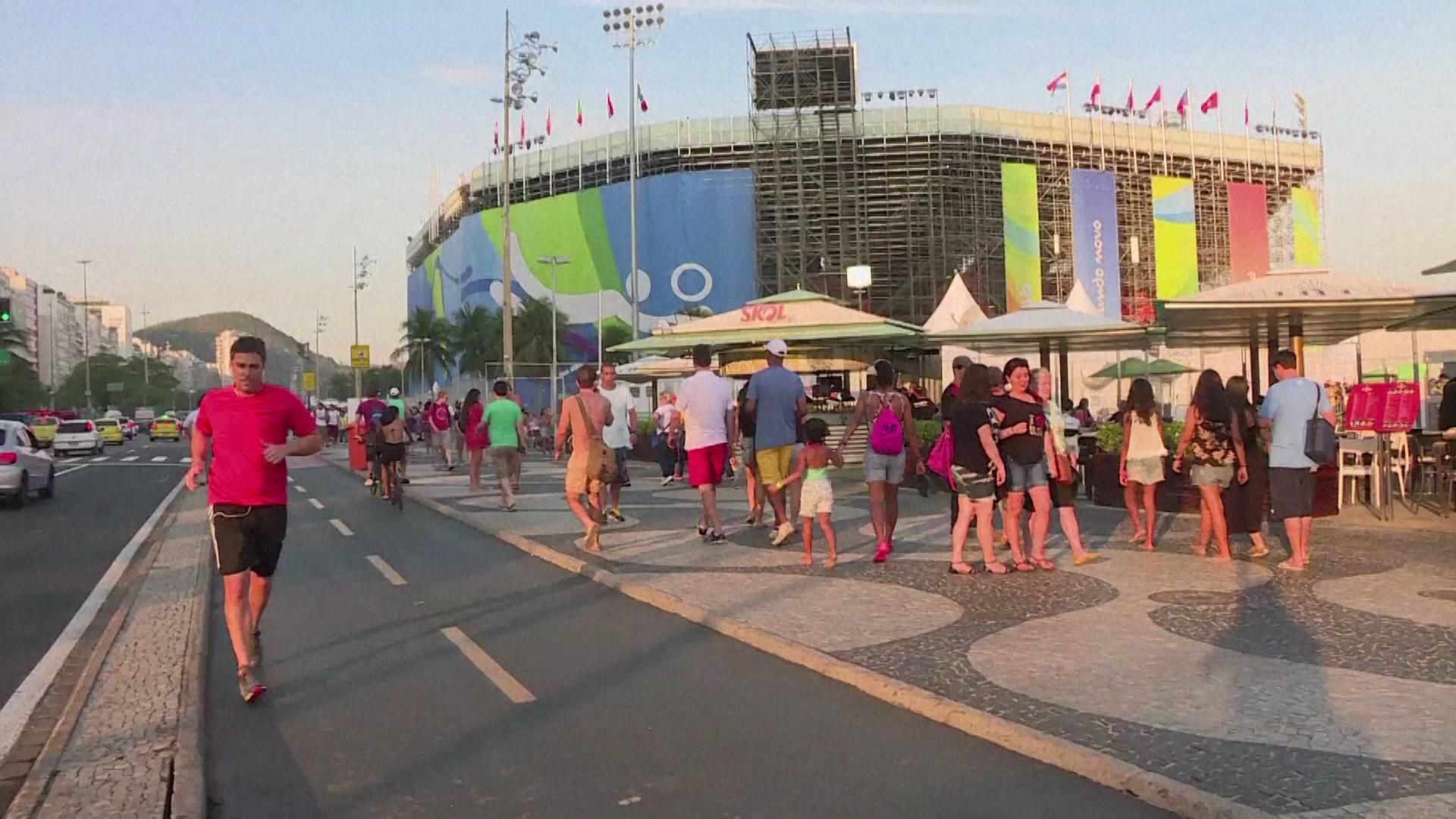 Copacabana no clima da Olimpíada