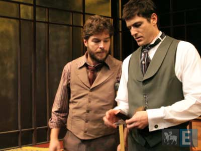Gianecchini e Erik Marmo atuam em peça de Strindberg