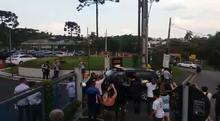 Eduardo Cunha chega à prisão da Lava Jato