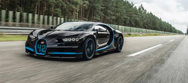 4º Bugatti Chiron: 420 km/h