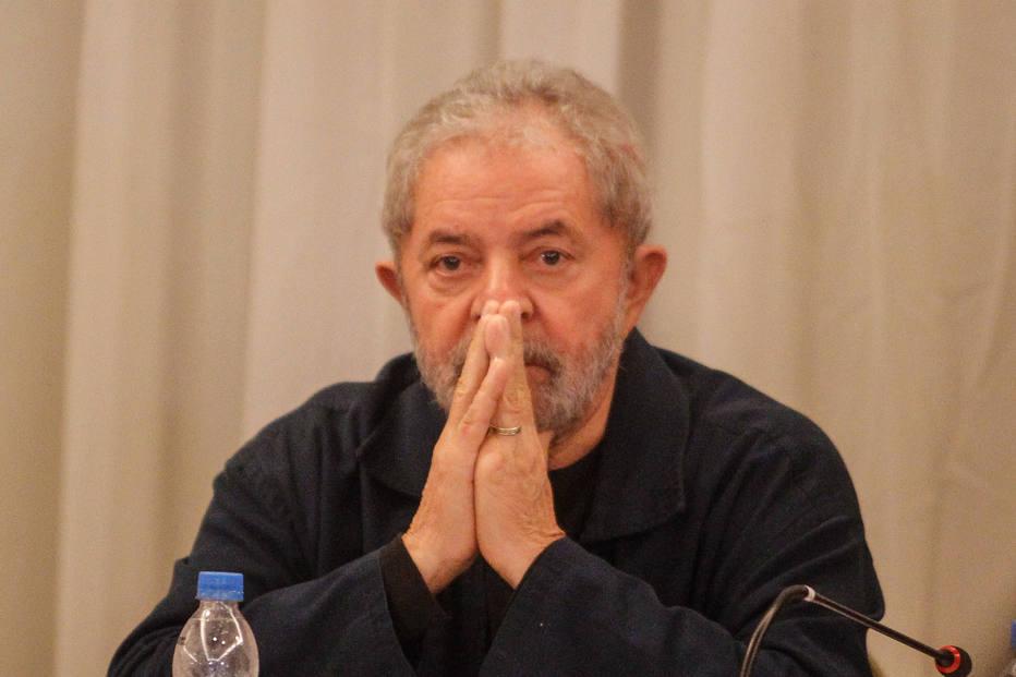 Ex-presidente Luiz Inácio Lula da Silva, na reunião do PT em São Paulo