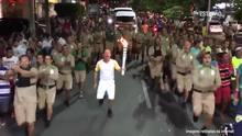 Chega ao fim a saga da tocha olímpica