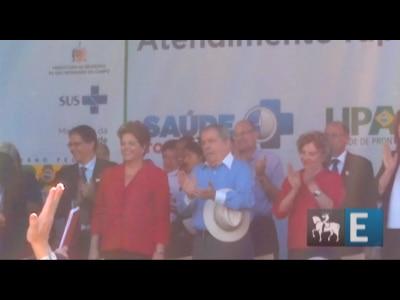 Dilma participa de inauguração com Lula e prefeito de São Bernardo
