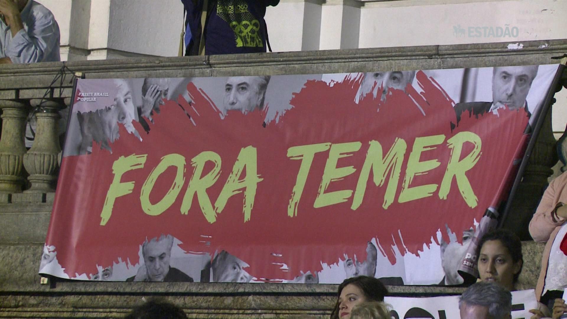 Protesto no Rio contra governo Temer
