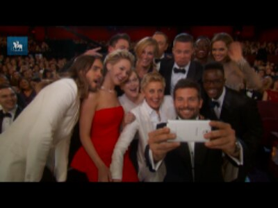 Tweet de Ellen DeGeneres vira fenômeno durante a cerimônia do Oscar