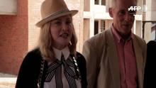 Madonna visita obras de hospital no Malaui