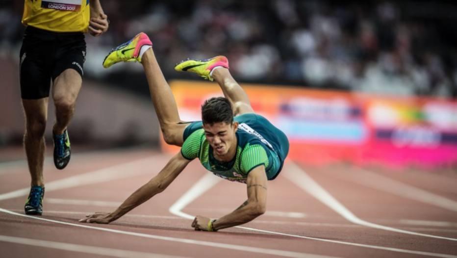 Rodrigo Parreira cai na chegada e conquista bronze no Mundial de Atletismo Paralímpico