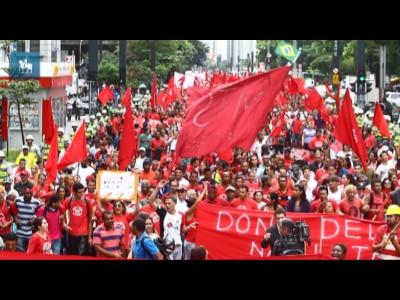 MTST protesta contra as políticas habitacionais em São Paulo
