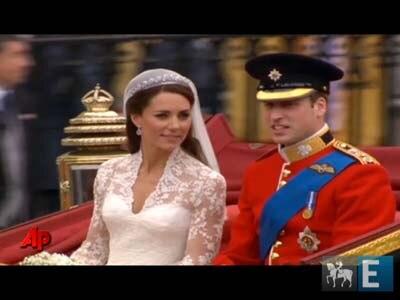 O cortejo real a caminho do palácio de Buckingham