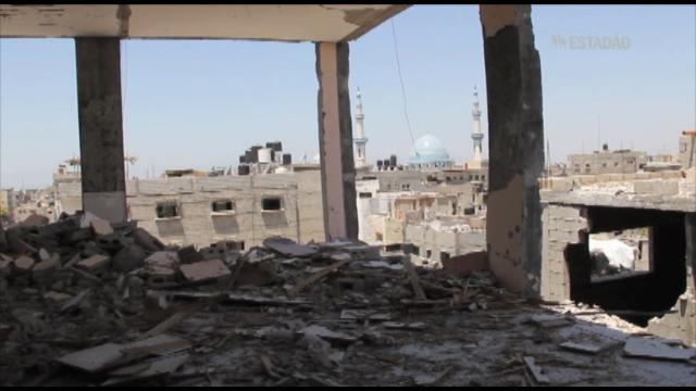 Andares destruídos do mercado central de Rafah pertenciam ao Hamas e à Jihad Islâmica