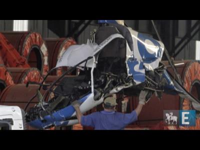 Helicóptero cai em uma fábrica em SP