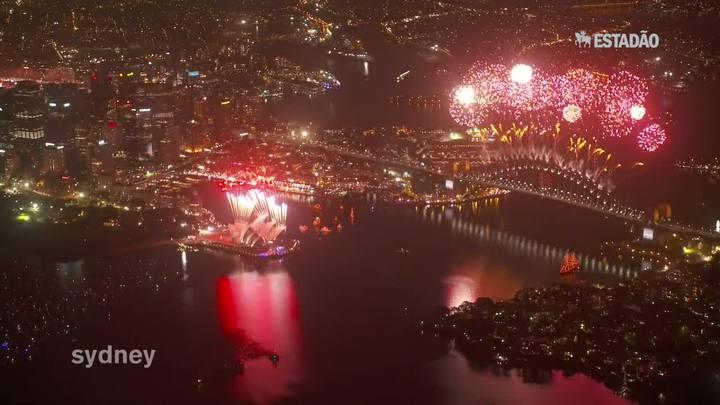 Austrália celebra a chegada de 2015
