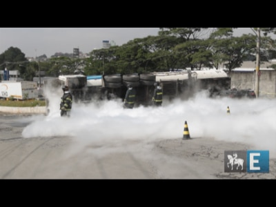 Veja imagens do vazamento de nitrogênio no Jaguaré