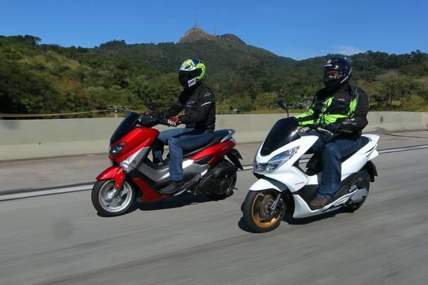 Yamaha NMax 160 enfrenta o Honda PCX 150