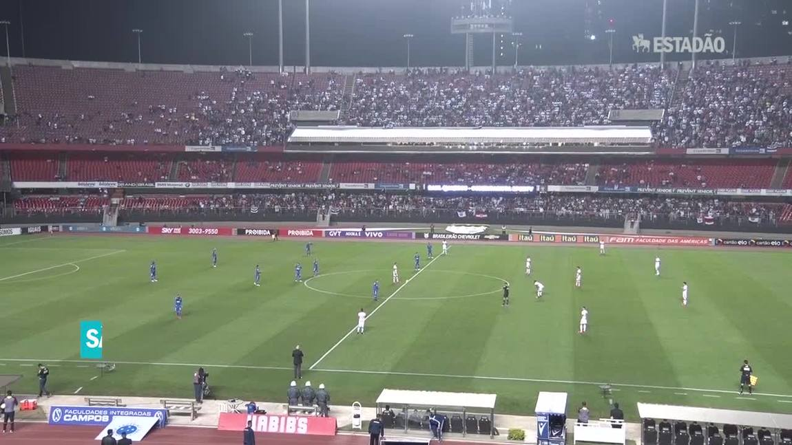 São Paulo vence o Cruzeiro por 1 a 0