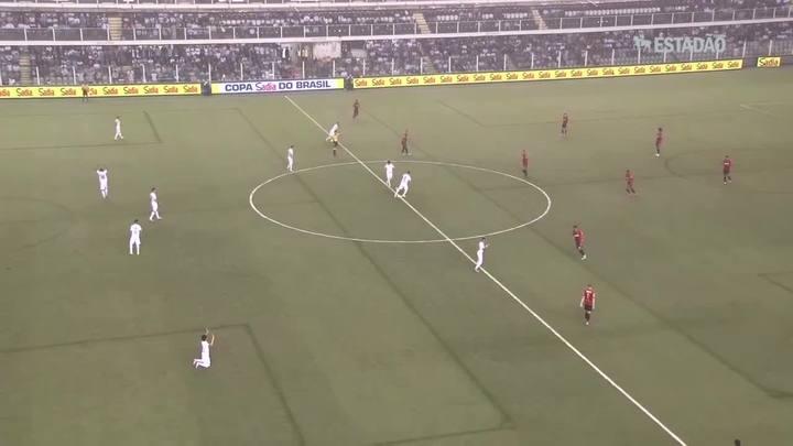 Santos vence o Sport por 3 a 1; veja os gols