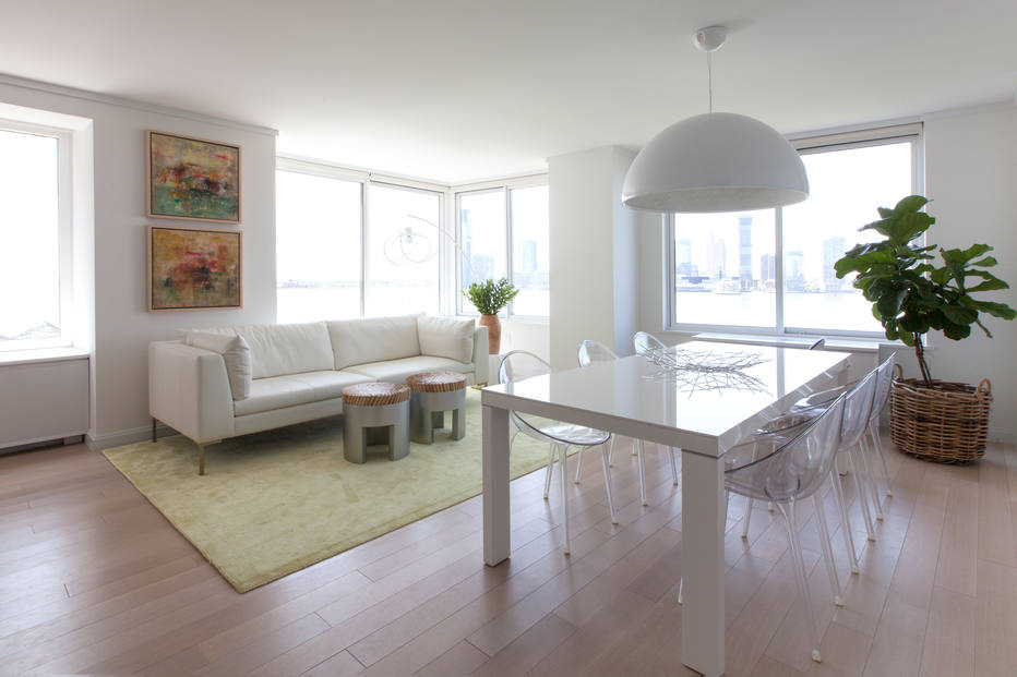 com decora o minimalista apartamento em ny tem vista