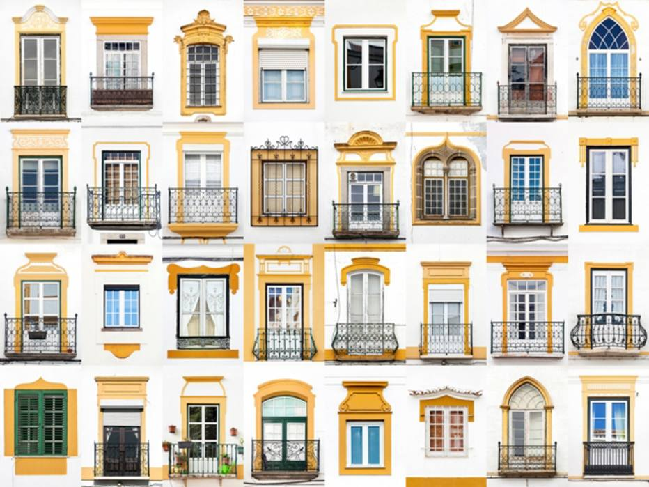 Detalhes amarelos na arquitetura deÉvora, emPortugal. O autor do projeto é o fotografoAndré Vicente Gonçalves
