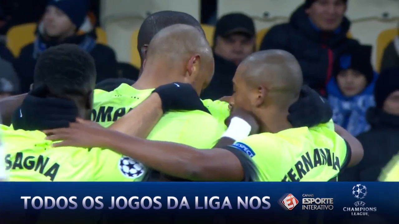 Manchester City bate o Dinamo de Kiev por 3 a 1