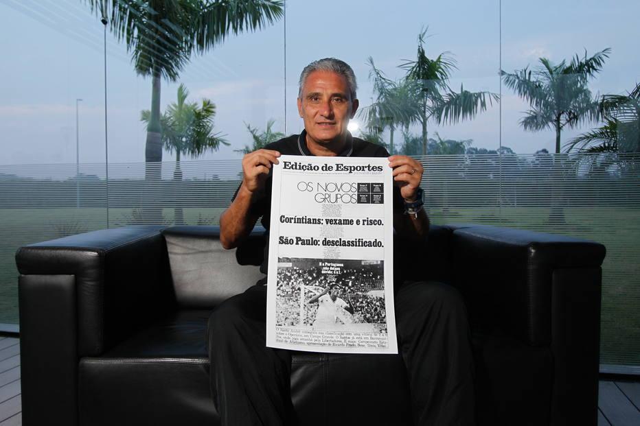 Tite segura capa do Jornal da Tarde de 1984