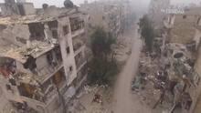Imagens de drone mostram Aleppo destruída